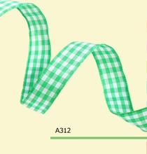 100yards/roll 1 Inch(25mm) Green Christmas Tartan Ribbon For Hair Bows