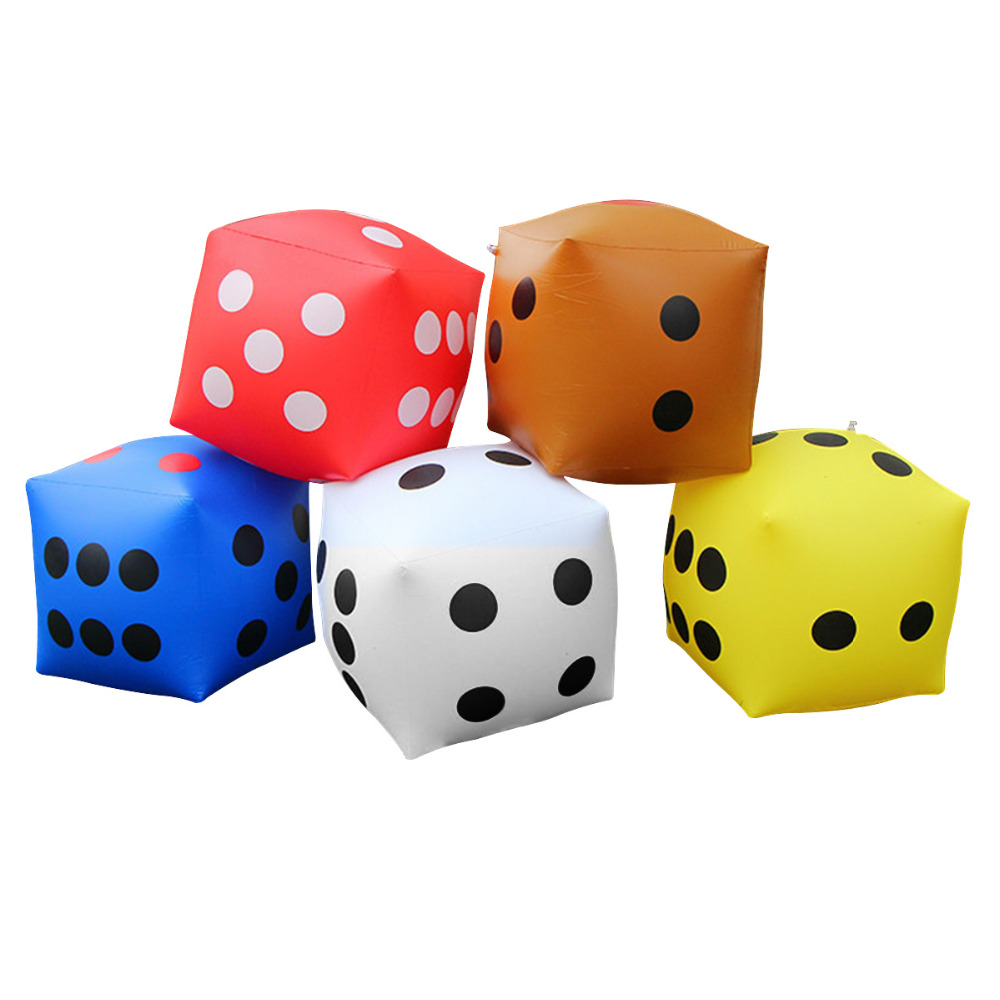 53*53*53cm Giant Inflatable Air Number Dice Swimming Float Outdoor Beach Toy Party Garden Game Children Interact Toys