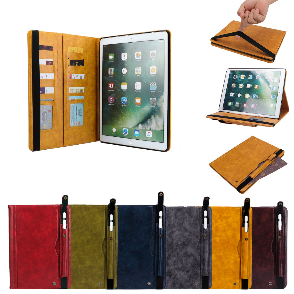 Flip Stand Leather Magnet Smart Pencil Holder Funda Capa Cover Case For Apple IPad Pro 12.9