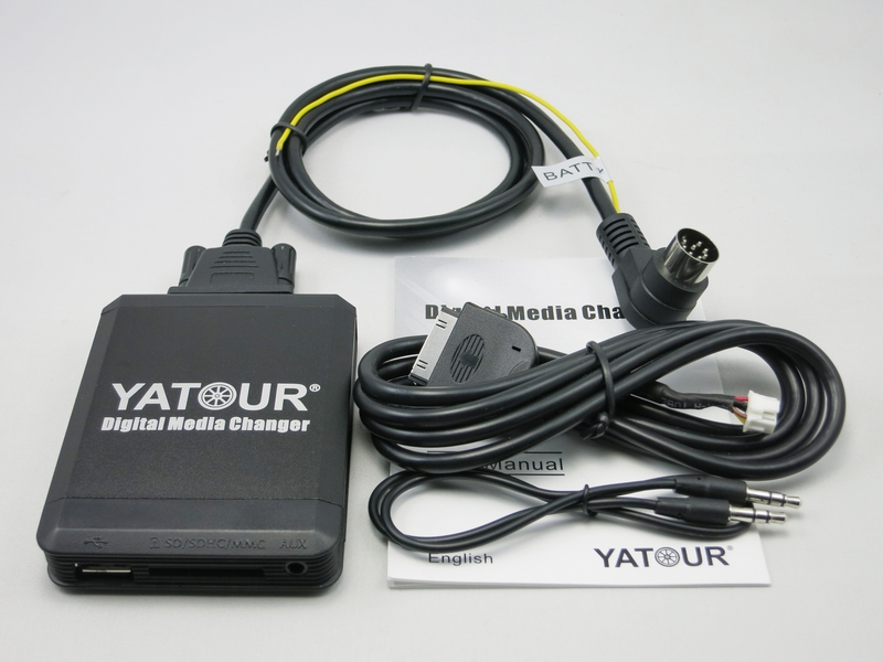 Yatour YTM07 Music Digital CD changer USB SD AUX Bluetooth ipod iphone interface for Volvo HU-xxx radios MP3 Integration kit yatour ytm07 digital music car cd changer usb sd aux bluetooth ipod iphone interface for for hyundai kia 8 pin mp3 adapter
