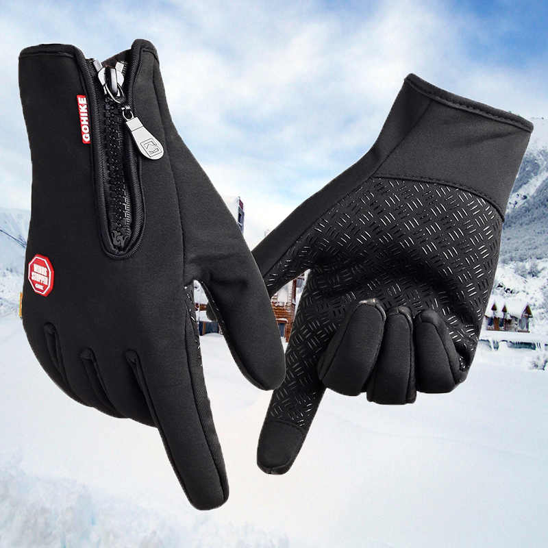 db585bf35a1ff ... Winter sport wind stopper ski gloves Winter Warm gloves for Men and  Women Touch Screen Windproof ...