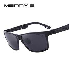 MERRY'S Men Polarized Sun glasses Aluminum Magnesium Sun Glasses Driving Glasses Rectangle Shades S'8571