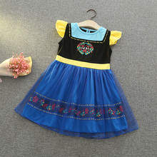 2019 Summer Girls Dress Sweet Party Dress Clothes Ice Romance Children Princess Dress Girls Clothing Vestidos Baby Kids Dresses цены