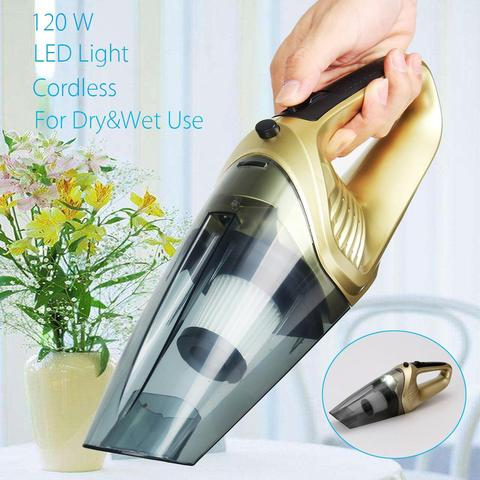 KROAK 120W 220V High Power Rechargeable Car Vacuum Cleaner Dry&Wet Dual Use With LED Light ABS Cordless Vacuum Dust Cleaner Pakistan