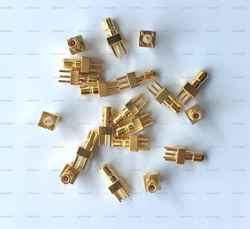 100PCS SSMB Male Plug straight PCB Panel Mount Plug with 4 Pins Stand Square Straight Connector RF Coax Coaxial Adapter