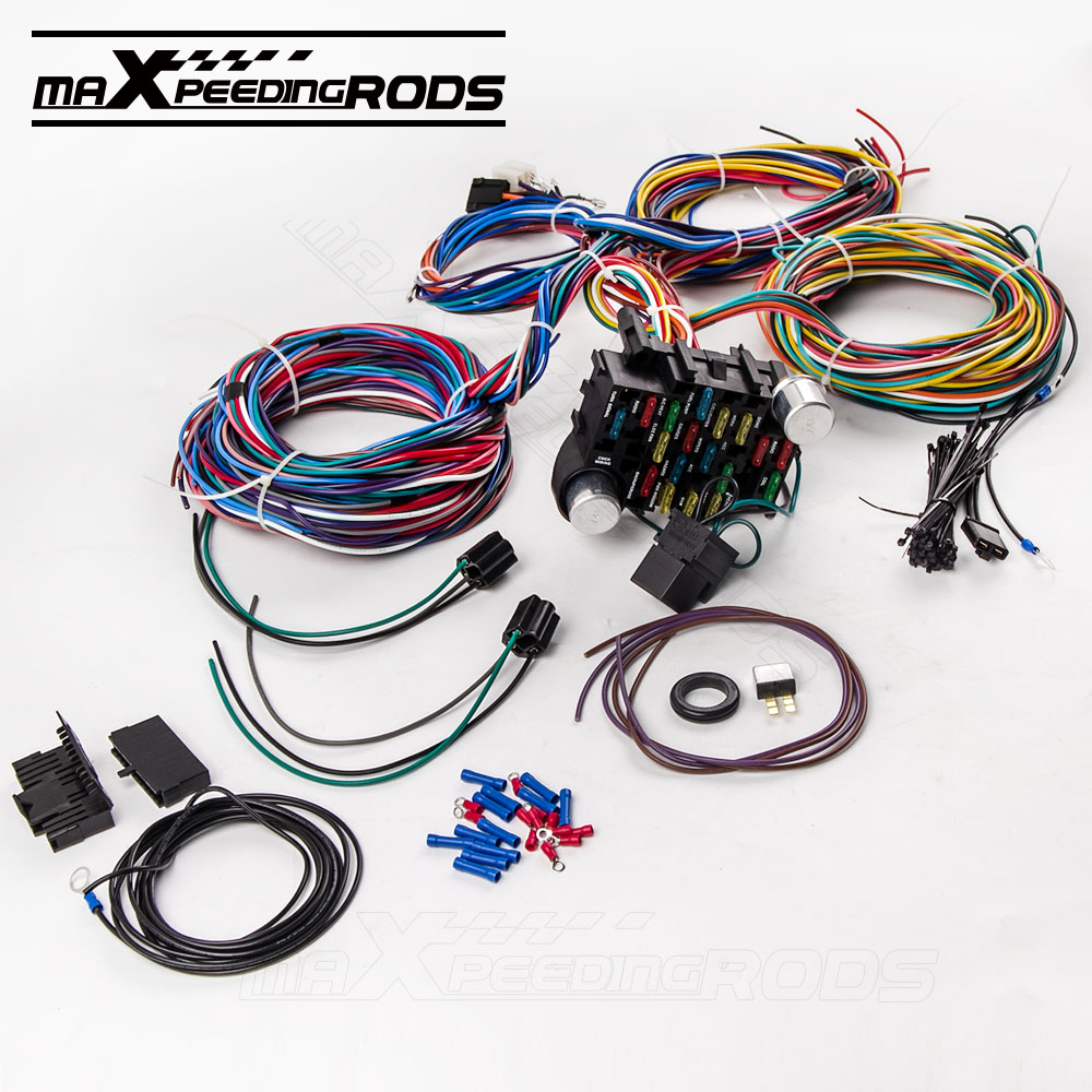 21 Circuit Wiring Harness For Chevy Mopar Ford Hotrod Universal Vauxhall Combo Extra Long Wires In Engine From Automobiles Motorcycles On Alibaba Group
