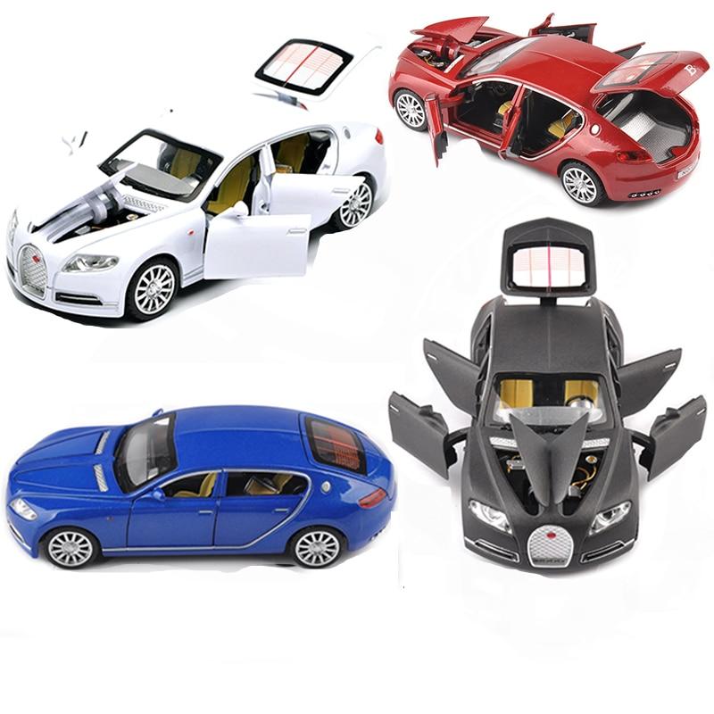 1 32 Bugatti Veyron 16C Galibier Diecast Metal Model Cars Alloy Electronic Car Toys Birthday Christmas