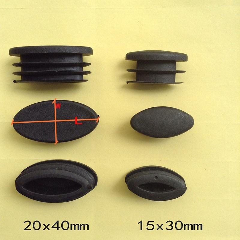 bouchon protecteur d extremite de tube olive 15x30 20x40 50 pieces embouts de tube ovale elliptique pieds de jambe de chaise