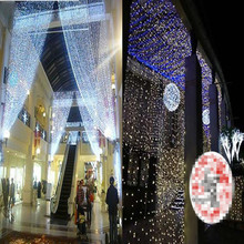 3MX 3M 300 LED Curtain Icicle Fairy String Lights ice bar Lamps Christmas 110V/220V New year Garden Xmas Wedding Party Decor