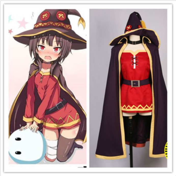 KonoSuba Gods  On This Wonderful World Megumin Blessing Full Set Cosplay Costume