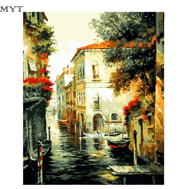 Diy Digital Painting Wall Art Canvas Painting For The Kitchen Oil ...