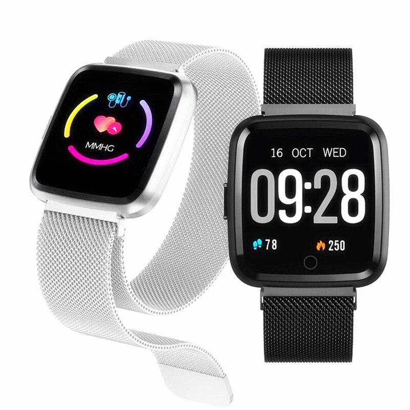 Smart uhr Q3 Männer wasserdichte Dynamischen Blut Sauerstoff Druck Schrittzähler fitness tracker band Herz Rate smartwatch F17 Armband