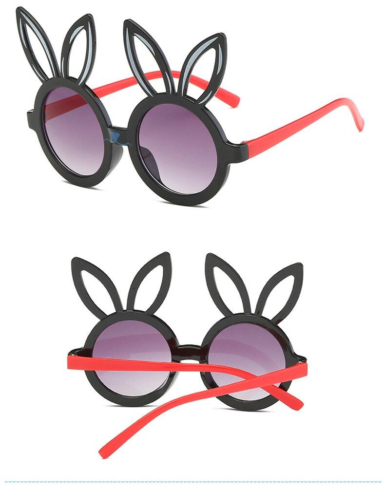 MINIMUM Cute rabbit shape Flexible Kids Sunglasses UV400 Eyewear Shades Infant Polarized Child Baby children Safety Sunglasses 5