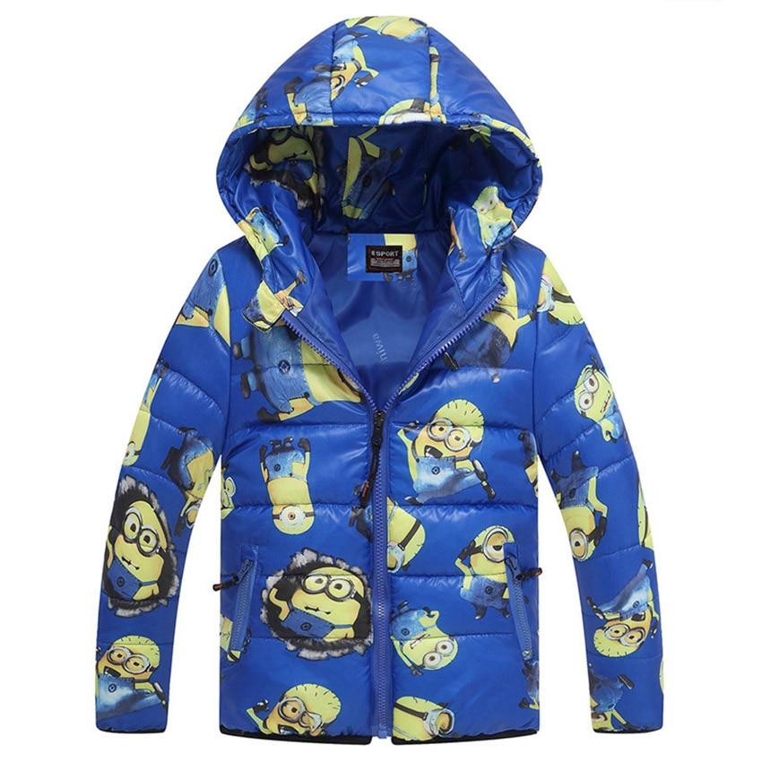 Minion Boy Płaszcze Z Kapturem Wysokiej Jakości Postacie Winter Boy - Ubrania dziecięce - Zdjęcie 4