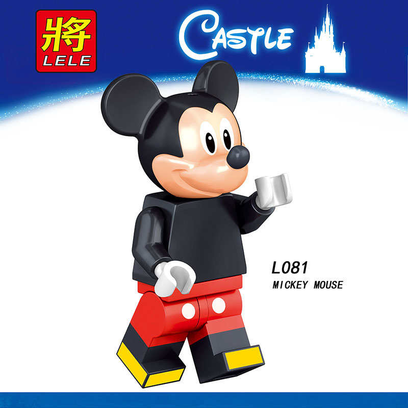 Single Sale Legoinglys Cartoon Mini Figure DUCK TINKER BELL MINNIE MICKEY MOUSE Building Blocks Action Toys For Children Gifts