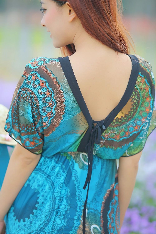 Boho Print Maxi Dress 6XL 8
