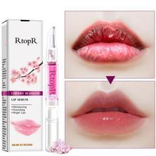 Cherry Blossom Lips Care Serum Moisturizing Reduce Fine Lines Dry Crack Peeling Repair Skin Beauty