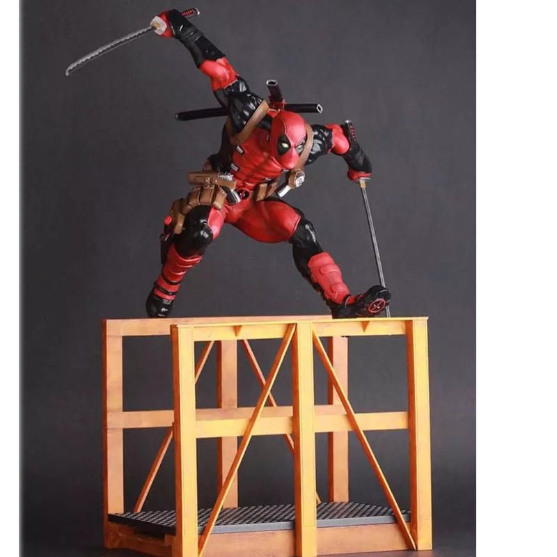30 CM Deadpool Sword Gun Weapon X-Men Hurdle Wade Winston Wilson Crazy Cool Toy PVC Action Figure Collectible Model Toy L529 cute 6cm deadpool reading figure model toy wade winston wilson deadpool pvc figure collection gift
