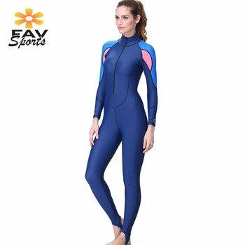 a9525ebd76ec 2018 traje de buceo de cuerpo completo para mujer trajes de natación para  surf