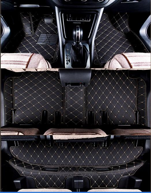 Good quality! Custom car floor mats for Toyota Highlander 7 seats 2013-2007 durable carpets for Highlander 2012,Free shipping