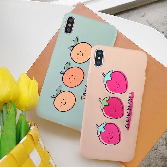 Cute Cartoon Fruit Orange Strawberry Phone Case