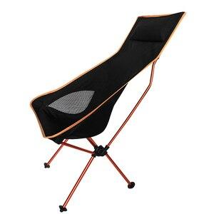 Image 3 - 11.11 עסקות נייד חיצוני מתקפל קמפינג כיסא תמיכה 360lbs גבוהה רשת חזרה עם לשאת תיק
