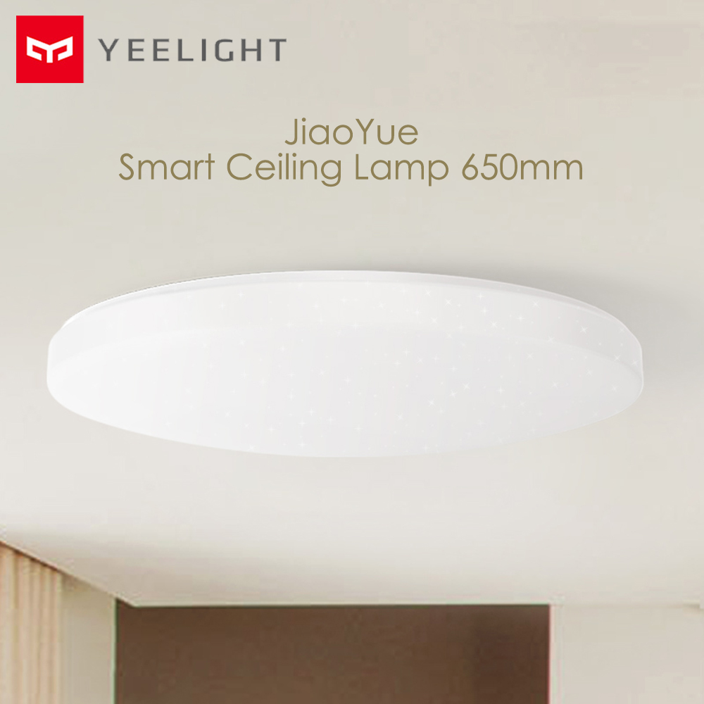 Original Yeelight JIAOYUE 650mm LED lampe de plafond intelligente anti-poussière Support Bluetooth télécommande APP contrôle Mijia maison intelligente