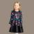 Nuevo Diseño de la Muchacha del Otoño del Invierno de Manga Larga de Algodón Elegante Vestido de Princesa Party Kids Flor de Perfume de Impresión Infantil Niños