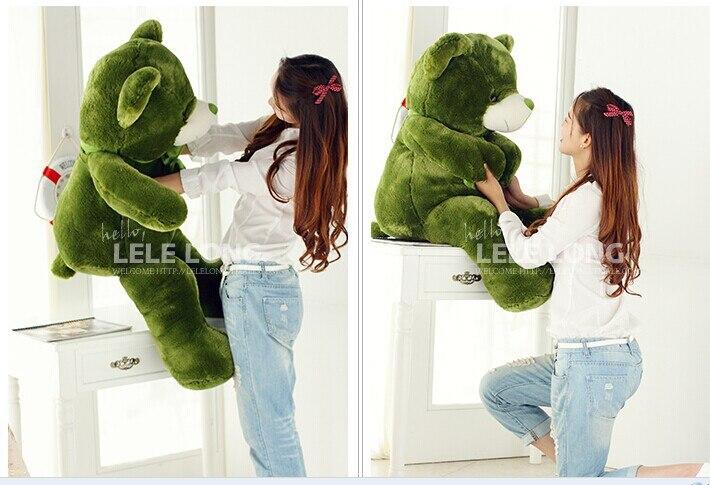 about 70 cm green teddy bear plush toy bear doll gift w4895 new creative plush bear toy cute lying bow teddy bear doll gift about 50cm