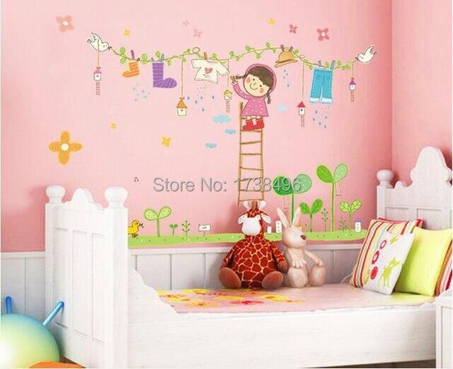 Groothandel van kinderkamer slaapkamer muur decoratie folie