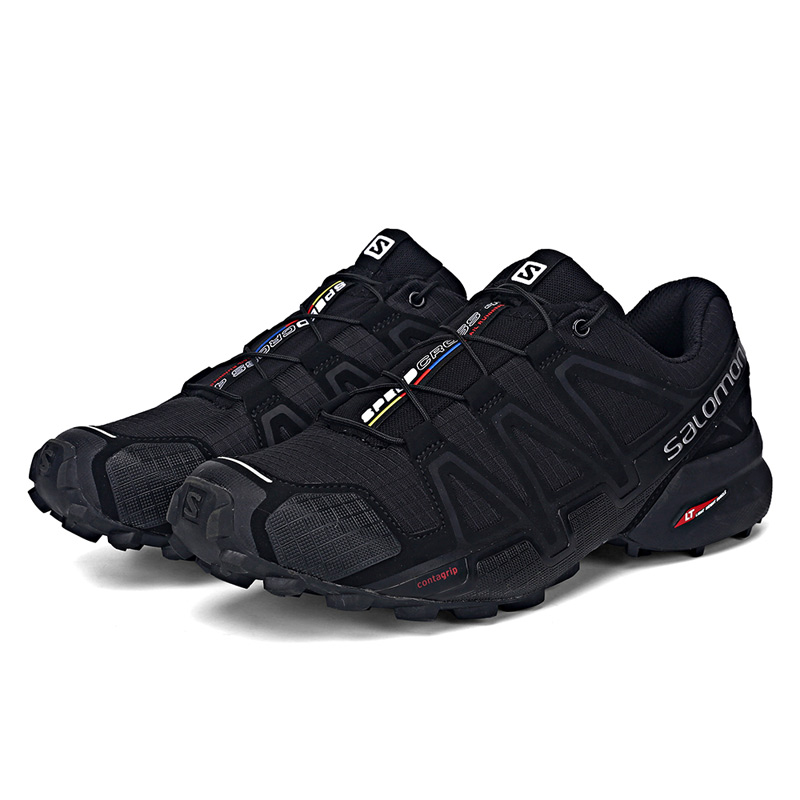 D'origine Salomon chaussures pour hommes Speed Cross 4 CS sneakers Hommes Cross-Country Chaussures Noir Speedcross 4 chaussures de jogging