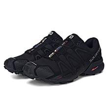 Original Salomon Men Shoes Speed Cross 4 CS sneakers Mens Cross-country Shoes Black Speedcross 4 Jogging Shoes
