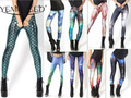 Top Sale summer new Women Mermaid Leggings fashion Space printed leggings