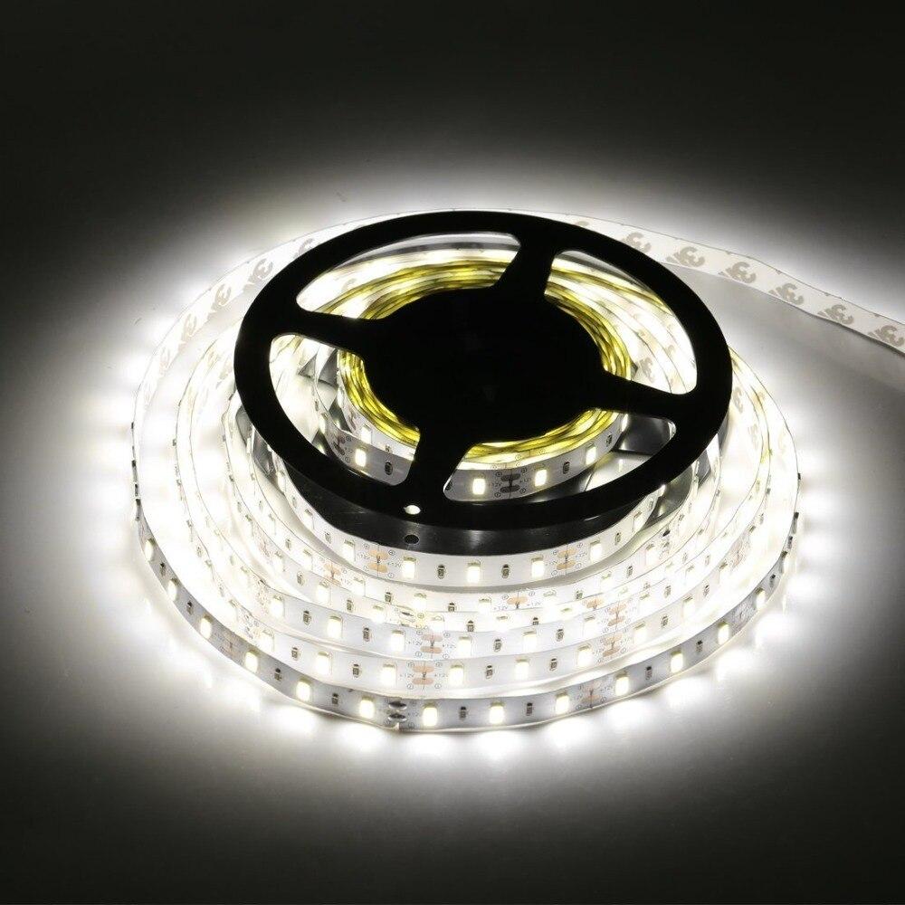 5630 DC12V LED Strip Light 5M 60led 6W/M Flexible 5630 Strip Led Light Brightness Non-Waterproof Home Decor Lighting Bar Lamp