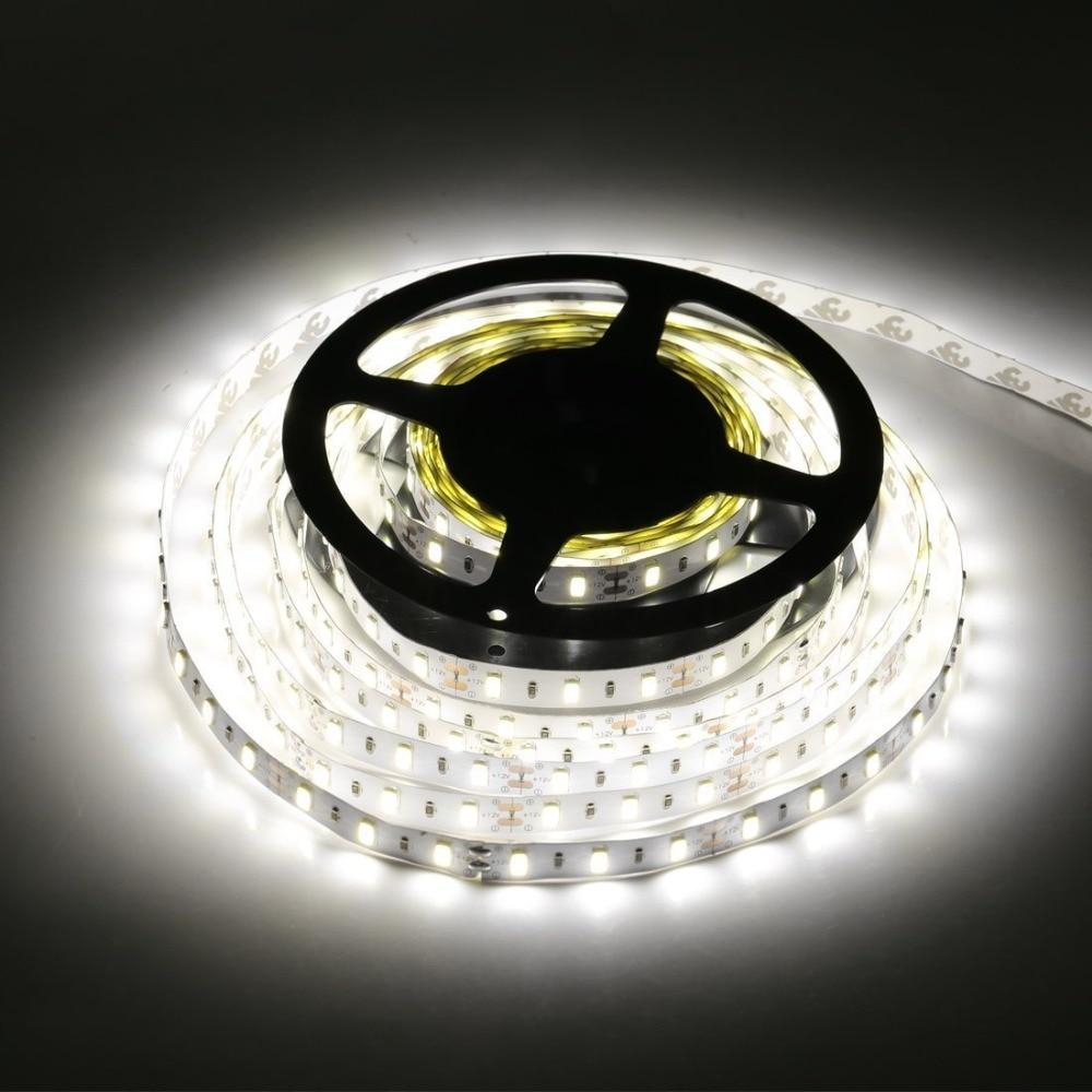 Tanbaby LED Strip Light 5630 DC12V 5M 300led 6W/M Flexible 5730 Bar Light High Brightness Non-Waterproof Indoor Home Decoration
