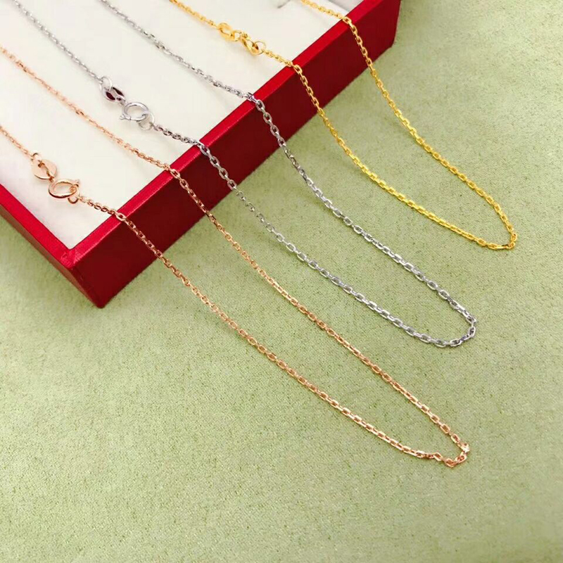 SHILOVEM 18k  Gold Necklace Fine Jewelry Women Wedding Plant Wholesale New Gift Xl002