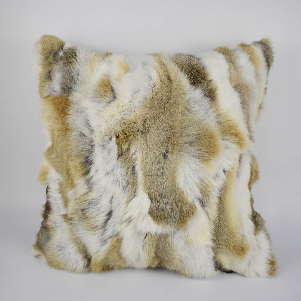 rex rabbit fur pillow 13