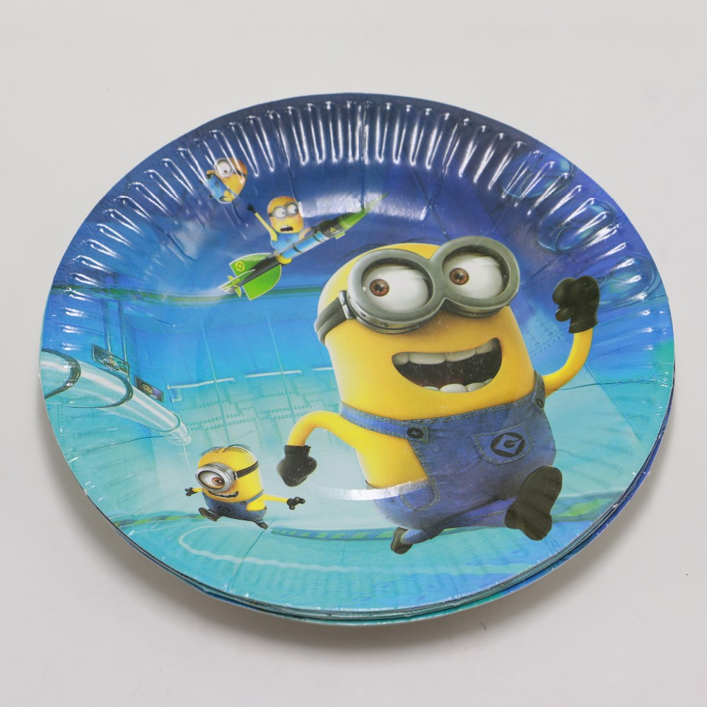 40pcs Cute Minions Theme Kids Disposable Paper Cups Plates Birthday Party Decoration Set Party Supplies Bay Shower For 10People-in Disposable Party ...  sc 1 st  AliExpress.com & 40pcs Cute Minions Theme Kids Disposable Paper Cups Plates Birthday ...