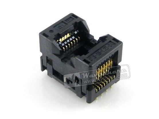 все цены на  module Waveshare SOP16 SO16 SOIC16 OTS-16-1.27-04 Enplas IC Test Burn-In Socket Programming Adapter 7.5mm Width 1.27mm Pitch  онлайн