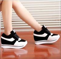 أزياء أحذية النساء إسفين أحذية النساء الارتفاع المتزايد الأحذية المسطحة إسفين عالية الكعب أحذية عالية الجودة 2 ألوان