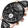 Ochstin de primeras marcas de lujo de los hombres relojes deportivos hombres horas de cuarzo cronógrafo 6 manos reloj de hombre correa de cuero reloj militar reloj