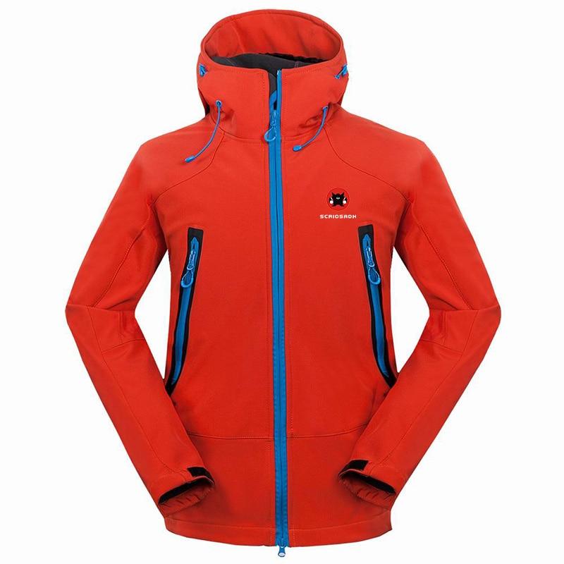 Новая брендовая зимняя уличная Мужская водонепроницаемая ветрозащитная флисовая куртка с мягкой оболочкой, теплая быстросохнущая дышащая...