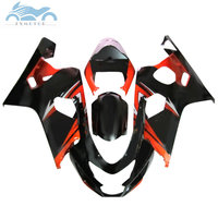 Free Custom Fairing kits for SUZUKI 2004 2005 GSXR600 R750 sports fairings kit 04 05 GSXR750 GSXR 600 K4 orange black body parts
