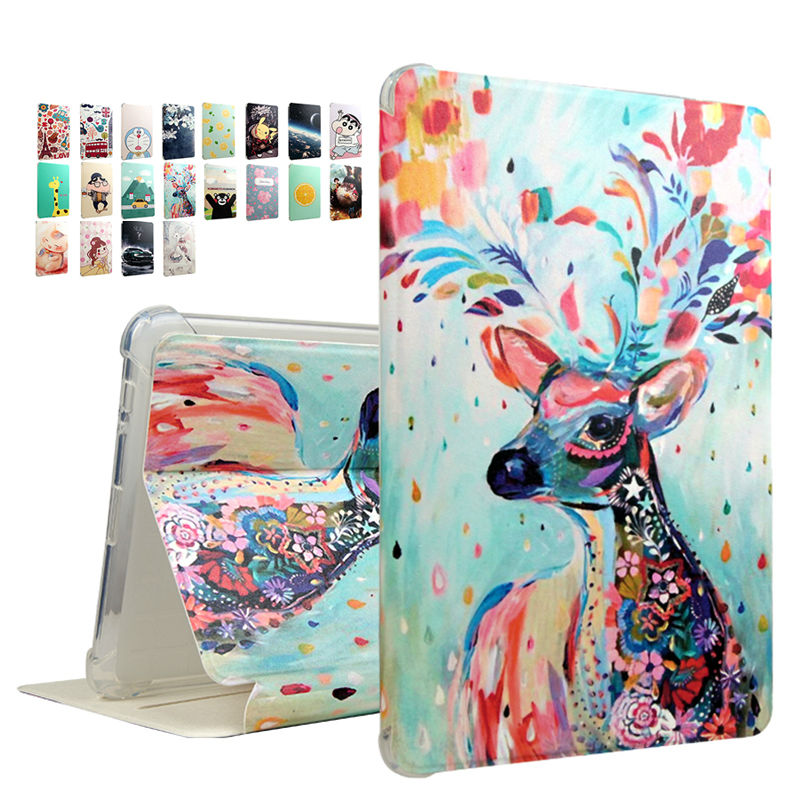 Mediapad T2 10.0 Pro A03L A01W PU Leather Tablet Case Cover Print 10.1'' Fundas Stand For Huawei Mediapad T2 10.0 Pro Smart Skin