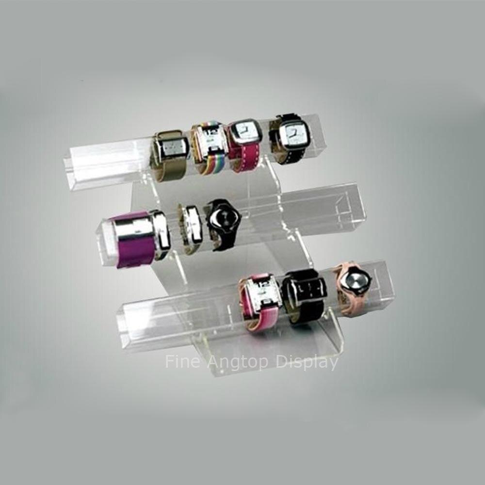 Acrylique Triple niveau bijoux Bracelet organisateur chaud pliage présentoir plexiglas bijoux Rack