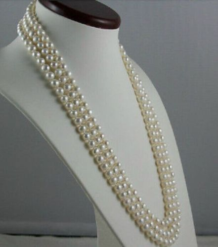 LONGER 608-9MM PERFECT AAA NATURAL JAPANESE AKOYA GENUINE WHITE PEARL NECKLACELONGER 608-9MM PERFECT AAA NATURAL JAPANESE AKOYA GENUINE WHITE PEARL NECKLACE