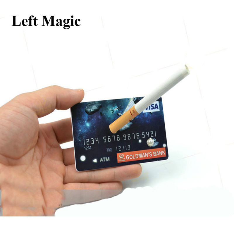Credit Card Floating Cigarettes Magic Tricks Suspend Credit Card Close Up Stage Props Magician Magic Profesional Illusion