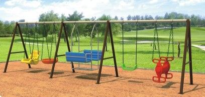Экспортируется в Румынию парк качели для детей CE утвержден открытый Детские площадки hz 6285c