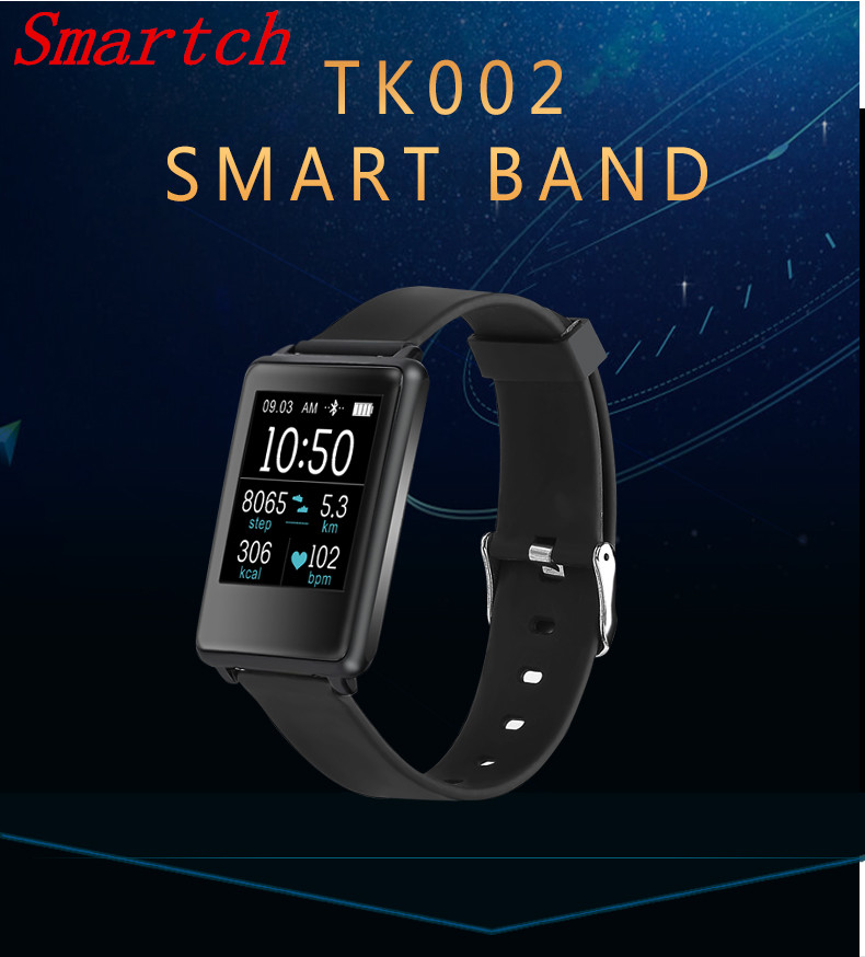 Smartch Smart Consumer Electronics Health Wearable Device TK002 Smart Bracelet with Heart Rate Monitor Anti lost