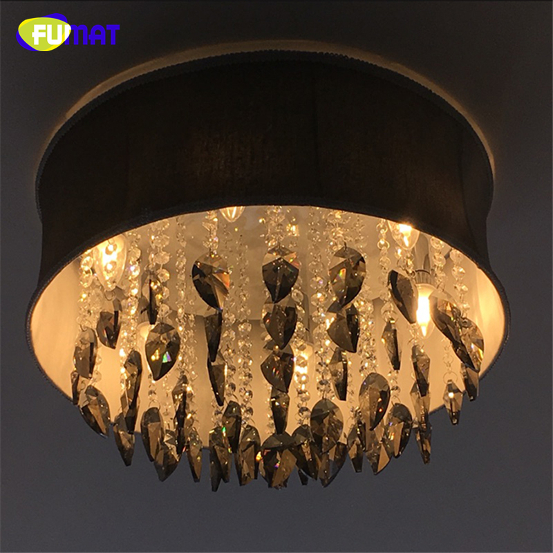 FUMAT Smoke Grey Crystal Chandelier Modern Suspension